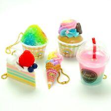 Pastel Rainbow Decor Japanese Dessert Food Keychain Ice Cream Cake 1 Random Toy