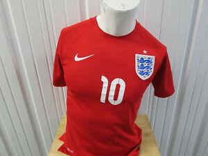 VINTAGE NIKE ENGLAND NATIONAL TEAM WAYNE ROONEY #10 SMALL SEWN JERSEY 2014/15 KI