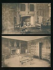 Norfolk NORWICH Strangers' Hall interior x2 c1900/10s PPCs