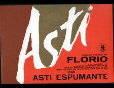 "ETIQUETTE ANCIENNE de VIN / VINO ASTI ESPUMENTE ""ASTI"" FLORIO"