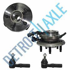 NEW Front Left and Right Wheel Hub and Bearings +Tie Rods for Sport Trac w/ ABS