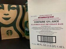 STARBUCKS Double Strength Strawberry Acai Beverage Juice Base ~48oz~ BB 10/14/21