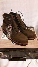 "Chippewa 20066 Chocolate Apache 6"" Steel Toe Lace Up Boots Size 8.5 EE"