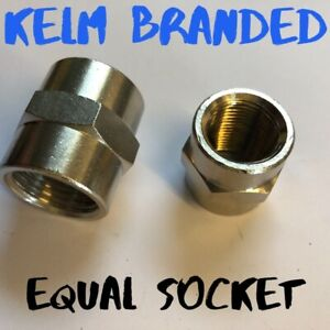 BSP socket female fitting equal KELM Full Range nickel brassfor air water fuel