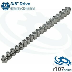 """Blue Point 3/8"""" Shallow Socket Set 6mm-24mm - As sold by Snap On"""
