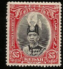 1937 Kedah Sultan $5.00 Mint Stamp Scott 54 SG 68