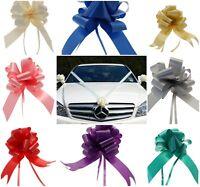 "Wedding Car Kit 3 x Large 50mm Poly Pull Bows & 7 Metres 2"" Poly Ribbon"
