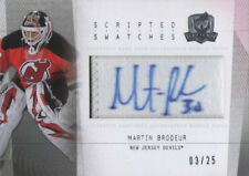 2009-10 UD The Cup Scripted Swatches Auto Number Patch /25 - Martin Brodeur