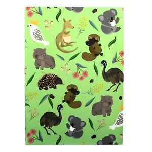 Gift Wrap Paper Australia Kangaroo Koala Kookaburra Echidna Wombat Platypus