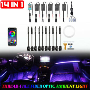 6m Car Interior Ambient Light RGB LED Strip Phone APP 14in1 For Mercedes Benz