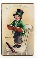 ELLEN CLAPSADDLE PC Postcard IRISH St Patrick's Day IRELAND Eire ERIN Patrick