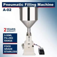 Pneumatic Filling Machine Liquid Paste 5-50ml Filling Oil Bottler Filler A02 Hot