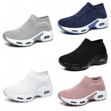 Summer Womens Breathable Slip On Sock Sneakers Running Walking Sports Shoes 42 D