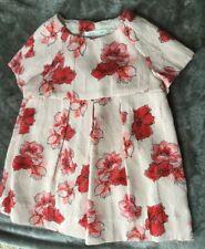 Zara Beautiful Baby Girls Pink Print Dress - 9 - 12 Months