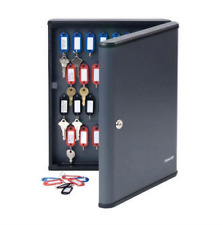 New Steel Master Wall Mount Key Cabinet Security Storage Safe Box 30 Key Rings