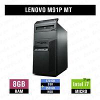 [Torre de reestreno] Lenovo M91P i7 8GB 120GB SSD 250GB HDD 1 Año de Garantía
