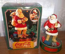 "Coca Cola Christmas Santa Mechanical Operating Train Bank Vintage 1993 Ertl 7.5"""