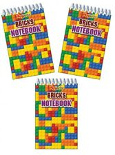 18 Lego Bricks Mini Note Book,Pad,.party bag toys,loot bag fillers,favours