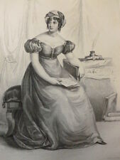 GRAVURE PERSONNAGE REVOLUTION & EMPIRE / Madame de Stael