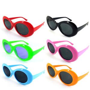 Kurt Cobain White Clout Goggles Sunglasses Colour  Rapper Oval Shades Fancy