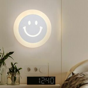 Simplicity Led Walls Child Lovely Smiley Lighting Sconces Hotel Corridor Acrylic