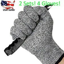 2 Sets! Protective Cut Resistant Gloves Level 5 Certified Safety Free Shipping!