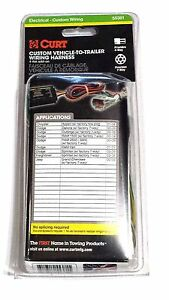 Curt Custom Vehicle-To-Trailer Wiring Harness 55381 Chrysler Dodge Jeep