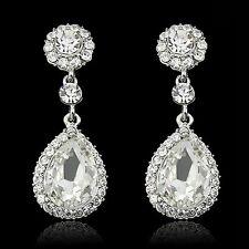Pendientes de lujo de las mujeres cristalinas de la lámpara (OR144/S)