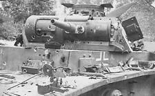 WWII B&W Photo German Panzer PzKpfw. III Shot Up  WW2 World War Two / 4083