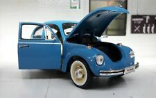 Vw escarabajo 1969 negro con tabla de surf coche a escala 1 24 / Welly