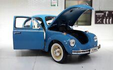 G LGB 1:24 Echelle VW Beetle Bleu 1303 Welly Moulage sous Pression Détaillé
