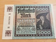 German 5000 Marks 1920 inflation money