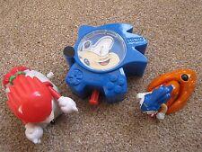 3x SEGA Sonic the Hedgehog – Burger King Kids Club Toys 1993–1998