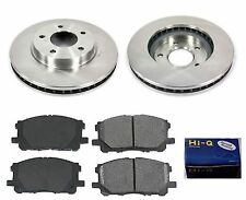 Front Ceramic Brake Pad Set & Rotor Kit for 2009-2010 Mitsubishi Lancer DE-ES-SE