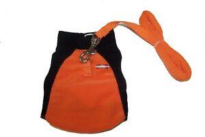 Marshall Ferret Sport Lead Toy Dog Harness Jacket - Basketball / Soccer Orange