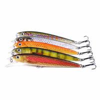 5PCS Lot 11cm/11g Minnow Fishing Bait Bass Crankbait Fish Lures Tackle Wobbler