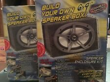 SCOSCHE SPEAKER ENCLOSURE KIT BUILD YOUR OWN BOX SET OF 2