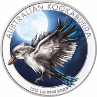 1 Oz Australien Kookaburra Silbermünze 2018 Münze Silber in Farbe