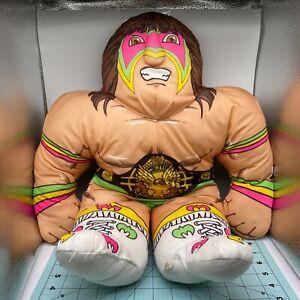 1990 WWF Wrestling Buddies ULTIMATE WARRIOR Plush Pillow TONKA WWE - CLEAN