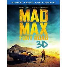 Mad Max: Fury Road (Blu-ray Disc, 2015, Blu-ray 3D, DVD, UltraViolet)