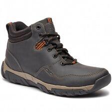 Clarks Walbeck Top II Mens Black Leather  Weatherproof Walking Boots Size UK 8.5