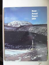 Vintage MOBIL OIL CORPORATION choice of 1982 or 1984 ANNUAL REPORT Mintcondition