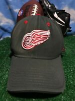 Rare Detroit redwings Red Wings Reebok NHL gray Flex fit Fitted Hat Cap H36