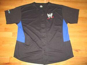 Summer Slam Aug 21, 2005 No 42 WWE Embroidered Button-Down (2XL) Baseball Jersey