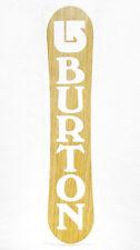 "New listing New Burton Snowboard Logo Wood Grain Die Cut Vinyl Sticker/Decal 2.15"" x 10.65"""