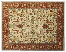 Persian Mahal Design Ivory New Rug Handmade 8x10 Indian Area Rug