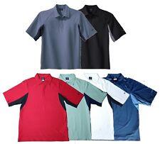 Nike Mens Dri Fit Wicking UV Color Block Polo Shirts Sizes XS, S, Med, 2xl, XXL