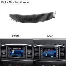 Fit For Mitsubishi Lancer 2008-2015 Carbon Fiber Gps Navigation panel Cover Trim