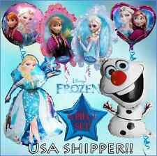 Frozen 6 Pc Balloon Set !! Princess Mylar ~ ELSA ~ ANNA ~ OLAF Birthday Party