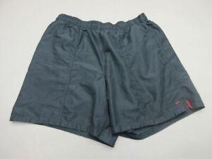 Speedo Size XXL(42) Mens Black Athletic Lined Swimming Bottom Trunks Shorts T274